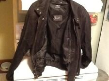 J WALDEN Mens Medium Back Leather Bomber Coat Jacket DuPont Thermolite Very Warm