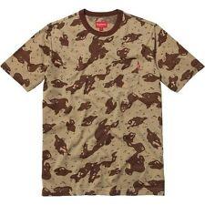 SUPREME Camo Pocket Tee Shirt Tan L Box Logo safari camp cap camels F/W 12