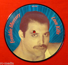 "FREDDIE MERCURY (QUEEN) - Love Kills - Rare Original UK 7"" Picture Disc"