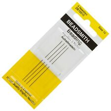 Size 10 Beadsmith English Beading Needles 55mm Pack of 4 Made in UK (E39/1)
