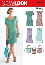 NEW LOOK SEWING PATTERN Misses' DRESS & BAG  SIZE 6 - 18 6022