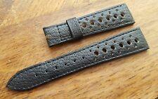 Bracelet Original black CORFAM strap for Heuer 20mm NOS Autavia Carrera Skipper