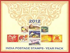 INDIA 2012 Commemorative Stamps Complete Post Office Year Pack MNH
