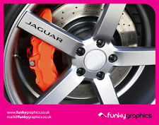 JAGUAR XF, XE, XK LOGO ALLOY WHEEL DECALS STICKERS GRAPHICS x5 IN BLACK VINYL