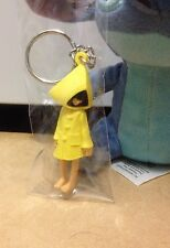 Bandai LITTLE NIGHTMARES 6 SIX character Yellow Raincoat girl KEY RING CHAIN
