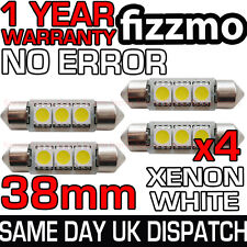 4x ERROR FREE CANBUS 3 SMD LED 38mm 239 272 C5W XENON WHITE NUMBER PLATE BULB UK