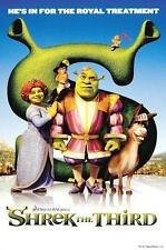 "SHREK FILMPOSTER ""SHREK THE THIRD HE'S IN FOR THE ROYAL TREATMENT"""