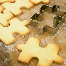 New Puzzle Shape Fondant Cookie Mold Cutter Cake Decor Tool Stainless Steel Xmas