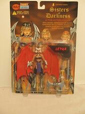 "Lightning Comics Sisters of Darkness Letha 6"" Action Figure Weapons and Stand"