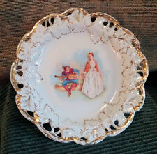 """Vintage CSM Carlsbad 11.5"""" Picture Plate ~ Lute Guitar Player & Baroque Lady"""