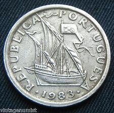"""PORTUGAL """" 2.50 ESCUDOS 1983  """" Rare Antique Coin"""