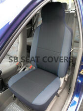 TOYOTA CELICA / STARLET CAR SEAT COVERS CHARCOAL GREY WITH BLUE PIPING