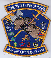 VFA-32 SWORDSMEN STRIKING THE HEART OF TERROR CRUISE 2016-2017 PATCH