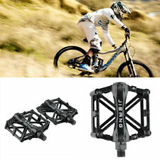 1 Pair Aluminum Alloy Flat Platform Bicycle Cycling Riding Pedals Treadle LL