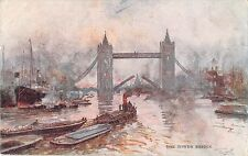 BR80912 the tower bridge ship bateaux  painting postcard   uk
