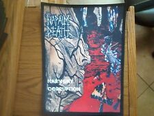 NAPALM DEATH,HARMONY CORRUPTION,SEW ON SUBLIMATED LARGE BACK PATCH