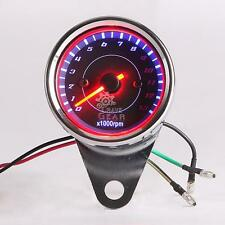 LED Backlight Universal Tachometer Speedometer Tacho Gauge New For Motorcycle