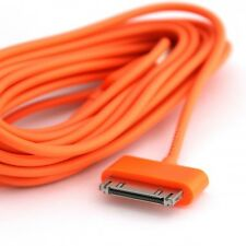 CHARGEUR IPHONE 4S 4 3GS 3 IPAD IPOD 30 PIN 2 METRES RENFORCE USB QUALITE ORANGE