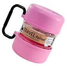 Gamma2 TRAVEL-tainer Double Dog Dish W/Handle PINK