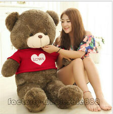47in. GIANT HUGE Valentine TEDDY BEAR PLUSH SOFT TOYS DOLL GIFT with sweater