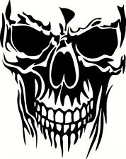 "Skull Vinyl Cut Out Decal, Sticker 11"" Long Diesel Truck Funny Large"