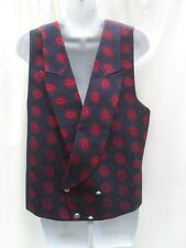 SIZE MEDIUM NAVY AND RED WAISTCOAT BY TED BAKER