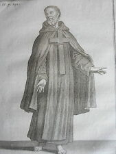 Ermite de St JEAN de la PENITENCE ordre religieux GRAVURE POILLY JUN XVIIIéme