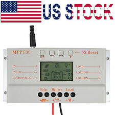 LCD 30A MPPT30 Solar Panel Battery Regulator Charge Controller 12V 24V  MPPT