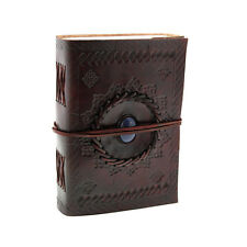 Indra Fair Trade Handmade Medium Embossed Stoned Leather journal Notebook Diary