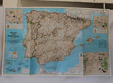 1998 National Geographic  Spain and Portugal Map - 20 x 31 inches