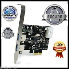 USB 3.0  2 Port PCI Express SuperSpeed Adapter With 2 Brackett 1 Year Warranty