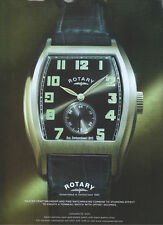 "Rotary ""Tonneau Watch"" 2007 Magazine Advert #2774"