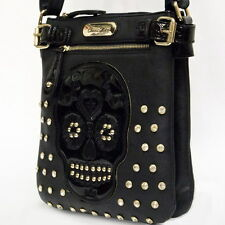 Black Cocos Rico Sugar Skull Messenger Bag