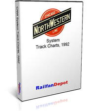 Chicago North Western System track charts - PDF on CD - RailfanDepot