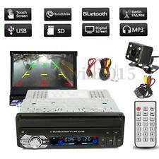 7''HD Touch Screen 1Din MP3 MP5 USB Bluetooth Video Player + Rear View Camera