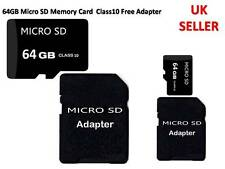 64GB Micro SD T Flash Memory Card Class 10 With Free Adapter For HTC M8 M9 UK