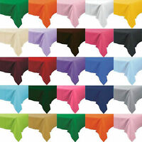 Plastic Table Cover Cloth Wipe Clean Party Tablecloth Rectangle Covers Cloths
