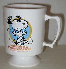 "1970's Snoopy Child's Plastic Cup ""Mealtime Is A Joyous Occasion"""