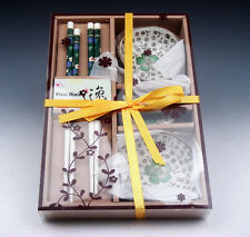 Gift Set Chinese Dining Ware Chopsticks & Holders & Saucers BRAND NEW #11061503