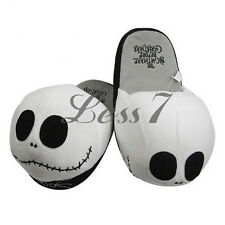 Newest One Pair Nightmare Before Christmas Jack Skellington Soft Plush Slipper