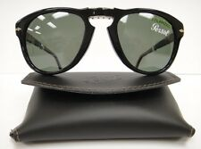 PERSOL 714 SUNGLASSES BLACK Polarized (9558) Steve McQueen Size 54 Large
