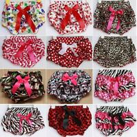 0-3Y Newborn Baby Girls Leopard Shorts Toddler Clothes Bloomers Bowknot PP Pants