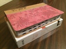 NIV Womans Study Bible Indexed- $84.99 Retail - Pink / Cafe Fabric & Leathersoft