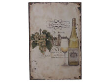 Shabby Chic French Vintage Style Metal Chardonnay Sign Plaque, 30 x 20cm