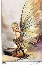 FAIRY Print HAND SIGNED by Jamie Tyndall w COA GRIMM FAIRY TALES