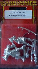 WHFB LIMITED EDITION GAMES DAY 2002 CHAMPION OF CHAOS HROTHGAAR MIB RED BLISTER