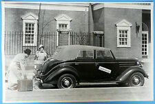 "12 By 18"" Black & White Picture 1936 Ford  Convertible Sedan Side View"