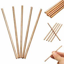 5Pcs Solid Round Copper Metal Bar Rods Cylinder Diameter 3mm Length 100mm New