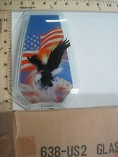 FREE US SHIP OK Touch Lamp Replacement Glass Panel American Flag Eagle 638-US2