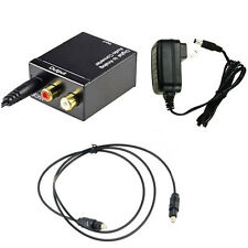 Digital Optical Coaxial Toslink Signal to Analog Audio Converter US Adapter RCA